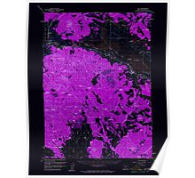 USGS Topo Map Oregon Bly 282263 1960 62500 Inverted Poster