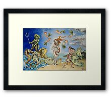 Birth Of Venus Remake Framed Print