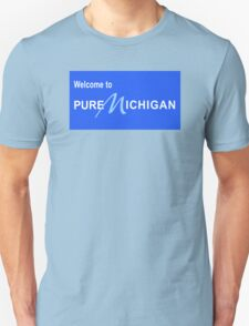 Welcome to Pure Michigan Road Sign Unisex T-Shirt