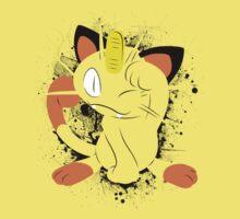 Meowth Splatter Kids Tee