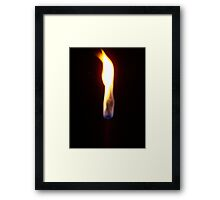 Flame One Framed Print
