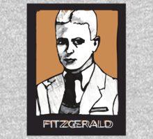 F Scott Fitzgerald 1920s Portrait  Kids Tee