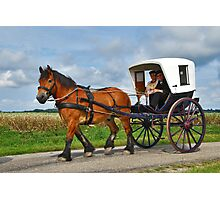 Together in a carriage Photographic Print