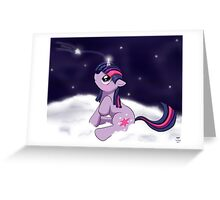 Snowy Constellations - Twilight Sparkle Greeting Card