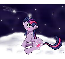 Snowy Constellations - Twilight Sparkle Photographic Print
