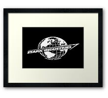 Stark Industries Global-White Framed Print