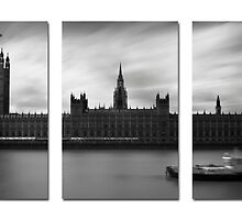 Houses of Parliament (Triptych Version) by Jamie Nessim