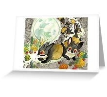 Moonlight With Jackalopes Greeting Card