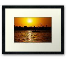 Sunset on the Creek Framed Print