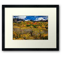 Colorful Kebler Pass Fall Foliage Framed Print