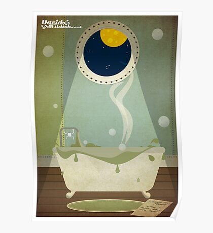 Invaders Bath Time Poster