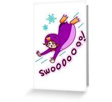 Purple Penguin Kigurumi Greeting Card