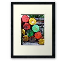 Toxic Colours Framed Print
