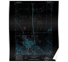 USGS Topo Map Oregon Baker City 278917 1994 24000 Inverted Poster