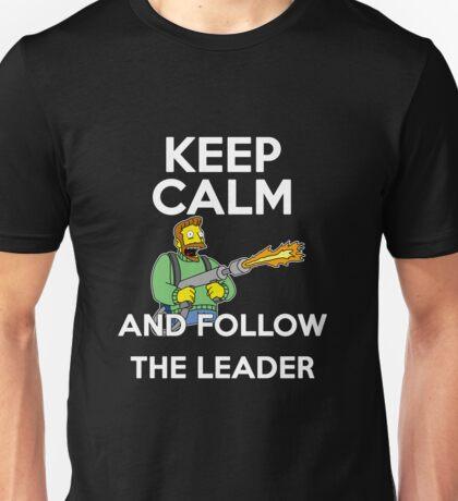Keep Calm and follow the leader. Unisex T-Shirt