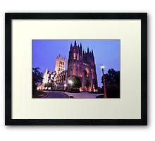 Twilight - National Cathedral Framed Print