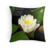 Thy right hand shall save me Throw Pillow