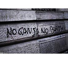 no ganja, no party Photographic Print