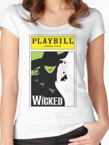 Wicked Playbill Women's Fitted Scoop T-Shirt
