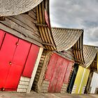 Mablethorpe beach huts (HDR) by Stephen Knowles