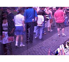 Passing the Wall of Remembrance - Vietnam Veteran's Memorial Photographic Print