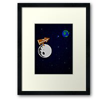 The Moon is with Stupid  Framed Print