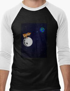 The Moon is with Stupid  Men's Baseball ¾ T-Shirt