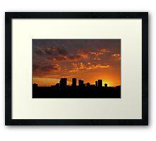 Tampa Silo Framed Print