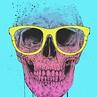 Pop art skull with glasses by soltib