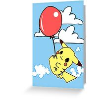 Pikachu balloon Greeting Card