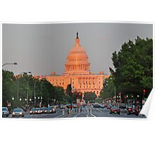 U.S. Capitol at Sunset  Poster