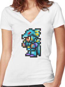 Kain Highwind Sprite - FFRK - Final Fantasy IV (FF4) Women's Fitted V-Neck T-Shirt