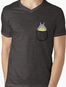Pocket totoro. Anime Mens V-Neck T-Shirt