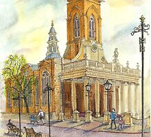 All Saints church, Northampton, UK by sketchartistjt