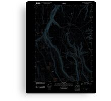 USGS Topo Map Oregon Red Bank Lakes 20110902 TM Inverted Canvas Print