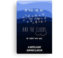 The Sky, the Stars, and the Clouds Canvas Print