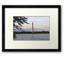 Cherry Blossoms and Tidal Basin Washington, DC Framed Print