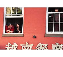 Watching the parade- Chinese New Year Photographic Print