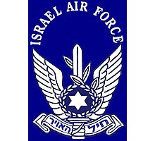 Israeli Air Force Logo for Dark Colors Photographic Print