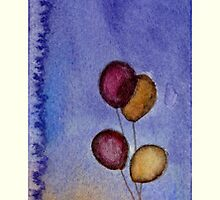 Balloon 5 - String by RontufoxPrints