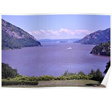 Hudson River view from West Point Poster