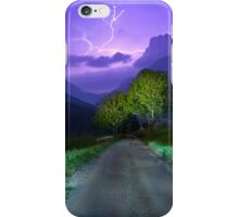Lightning over the alps entrance iPhone Case/Skin