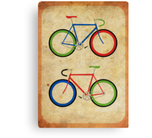 RBG Bikes ~ Series 2 Canvas Print