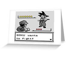 Crossover Pokemon - Dragonball Coloured balls Greeting Card