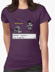 Crossover Pokemon - Dragonball Coloured balls Womens Fitted T-Shirt