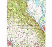 USGS Topo Map Oregon Hillsboro 282584 1961 62500 by wetdryvac