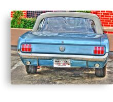 1965 Mustang-rear view Canvas Print