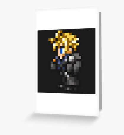 Lone Wolf Cloud sprite - FFRK - Final Fantasy VII (FF7) - Advent Children Greeting Card