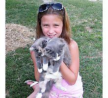 Loving Those Kittens Photographic Print