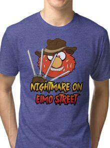 Nightmare on elmo street. Horror. Tri-blend T-Shirt